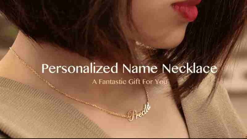 personalized name necklace & Gems