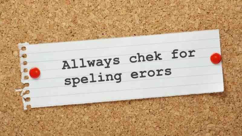 SEO Check Spelling Errors