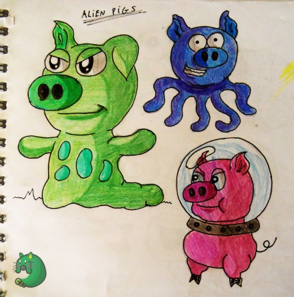 Alien Pigs Boceto