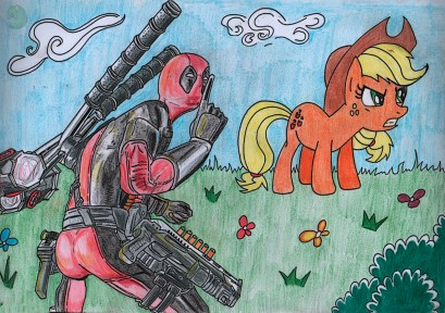 Deadpool and Applejack