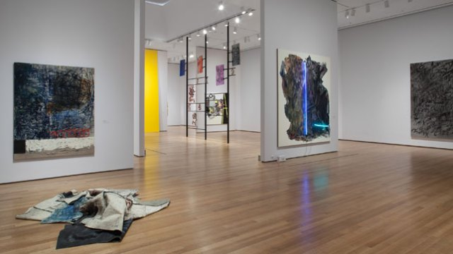 Installation view of The Forever Now Contemporary Painting in an Atemporal World, The Museum of Modern Art