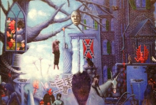 Detail, Motley - The First One Hundred Years: He Amongst You Who Is Without Sine Shall Cast the First Stone: Forgive Them Father For They Know Not What They Do, Archibald Motley, c. 1963-72