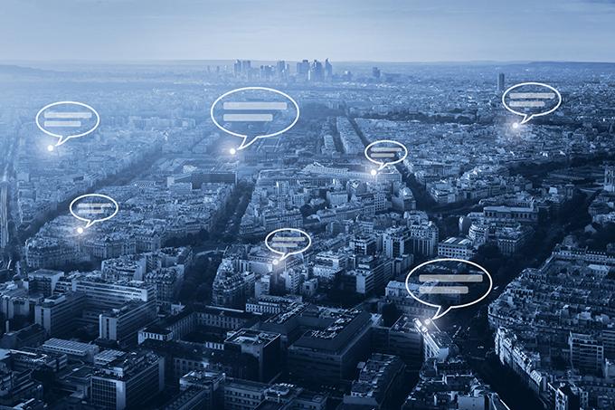 online communication concept, social network