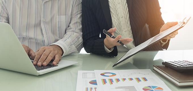 business financial meeting