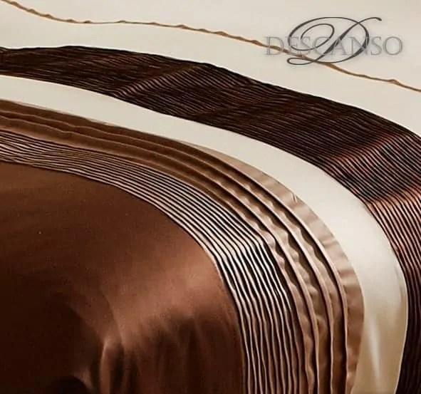 detail afbeelding van een dekbedovertrek van het merk descanso