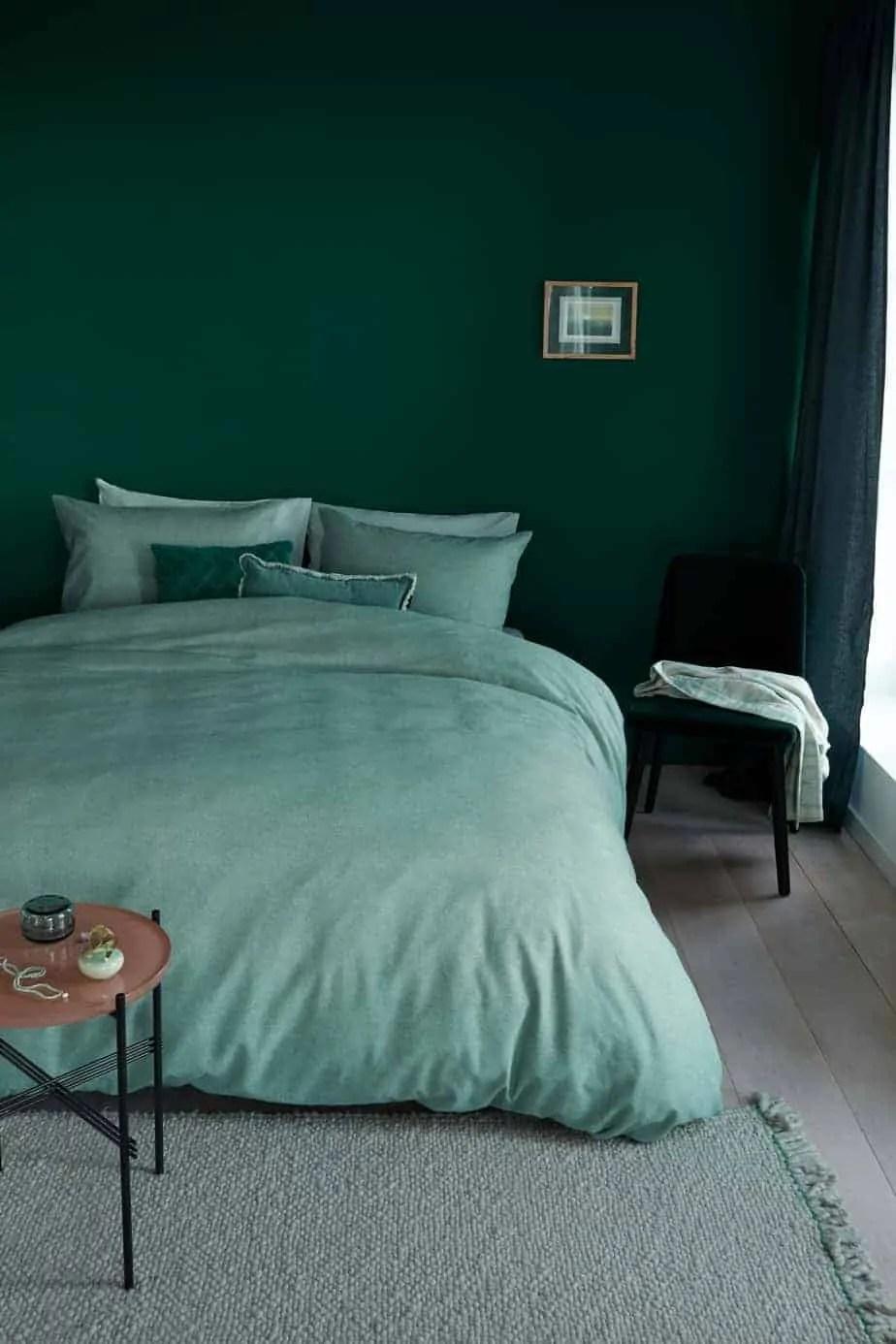 dekbedovertrek frost green beddinghouse afgeprijsd