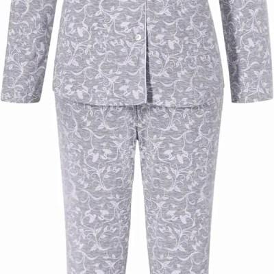 grote-maten-pyjama-webshop-orchids-pastunette-maat-48-grijze-pyjama-bloemen