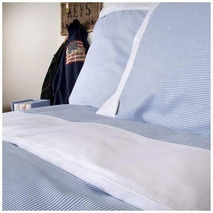 dekbedovertrek-oxfort-stripe-blue