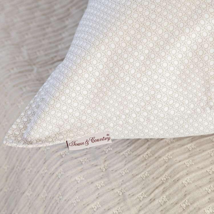 dekbedhoes in beige/ zand kleurige kussensloop