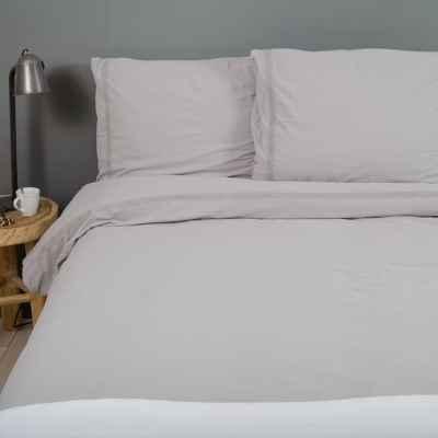 grijs dekbedovertrek lugano met wafelstof dessin