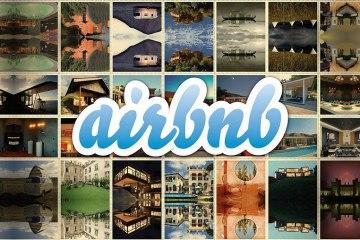Immagine con il logo di AirBnB