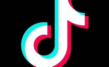 logo di TikTok su fondo nero