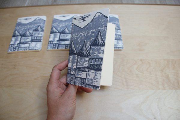 carnet Matin Calme linogravure (extérieur) | LinoLino | Créations artisanales