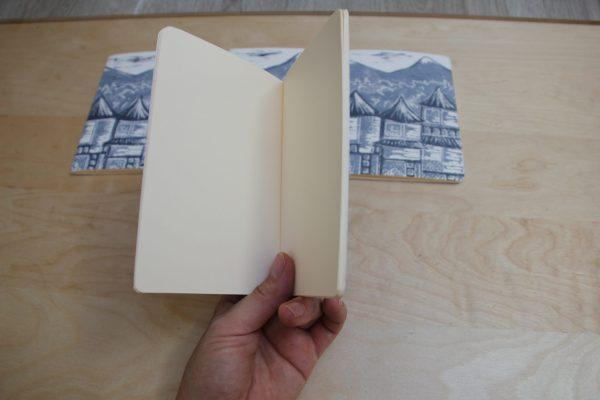 carnet Matin Calme linogravure (intérieur) | LinoLino | Créations artisanales