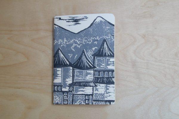 carnet Matin Calme | linogravure | LinoLino | Créations artisanales