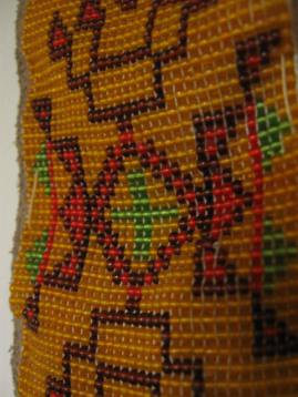A beaded armband completed by my father in his boy scout days.
