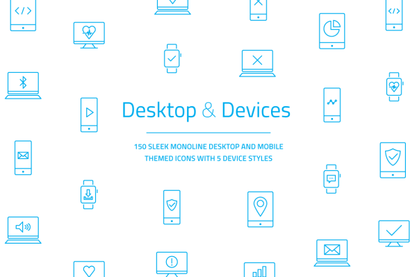 Mobile Desktop Laptop Icons