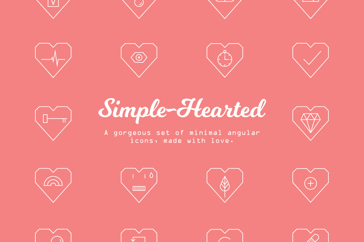 Simple-Hearted Vector Icon Set