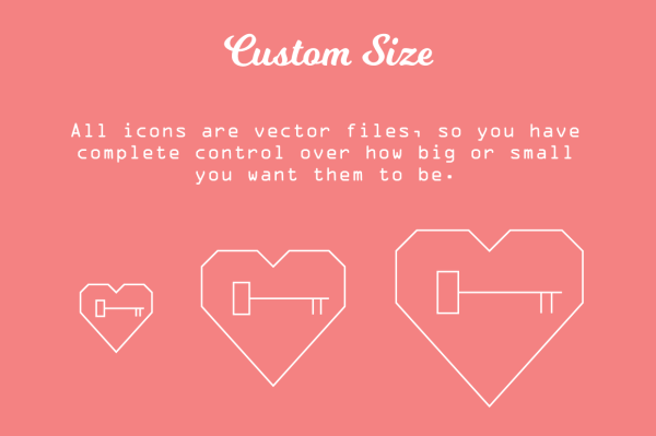 Simple-Hearted Vector Icon Set 4
