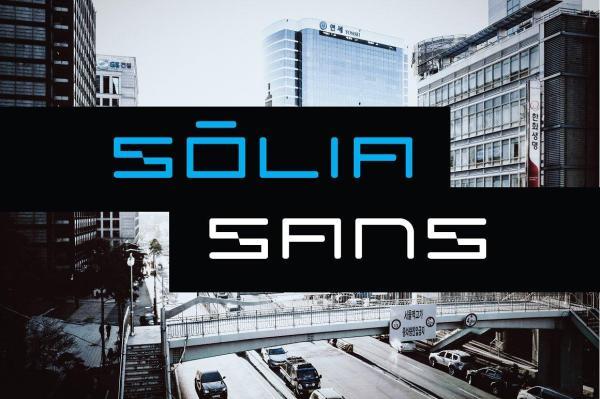 Solia Sans Display Font