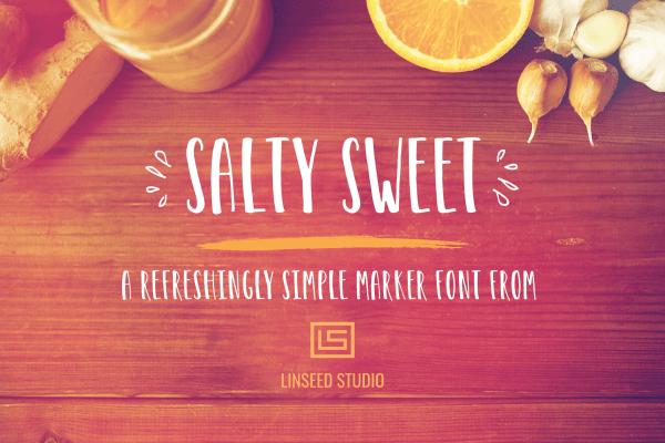 Salty Sweet Marker Font