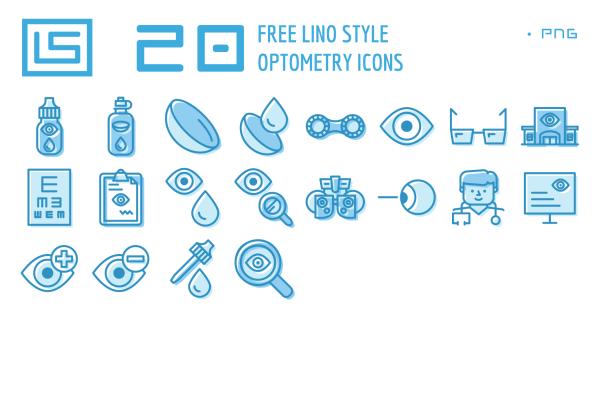 Optometry Icons Freebie