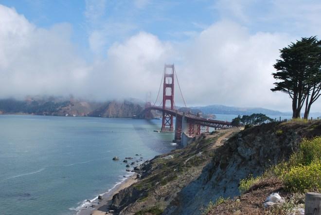 A beautiful morning near Golden Gate Bridge.