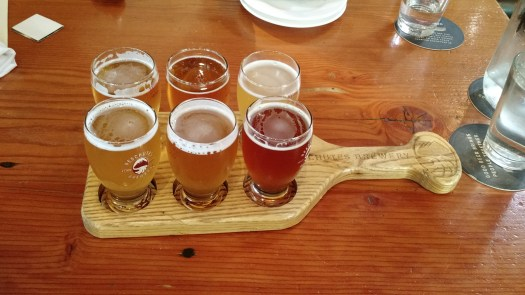 Brewer's Choice sampler at Deschutes Brewery