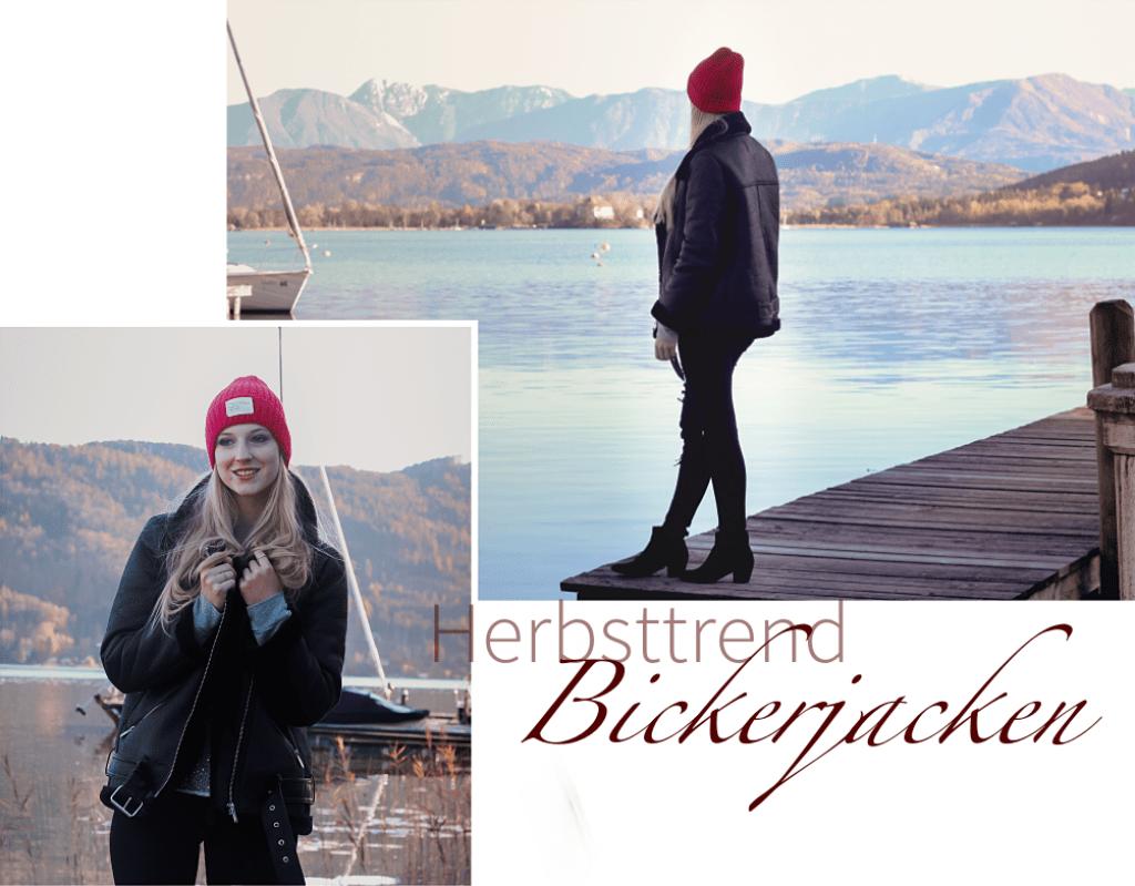 Bikerjacke, It-Piece, Trendpiece, Trend, Trend Herbst Winter, Wintertrends, Jackentrends, Bikerjacke mit Fell, Blogger, Bloggerin, Linsenspiel, Wörthersee
