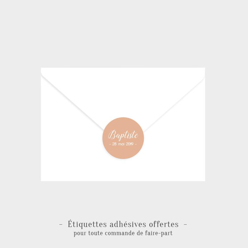 Etiquettes adhésives Bonheur offertes