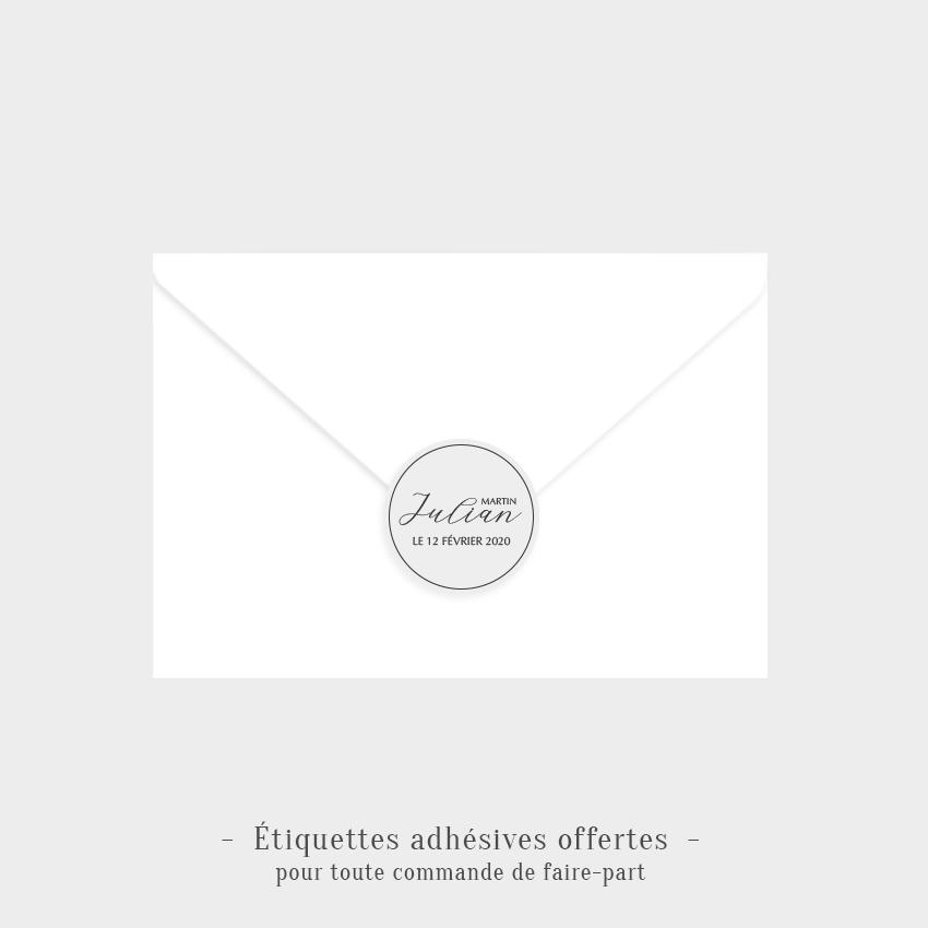 Etiquettes adhésives Finesse offertes