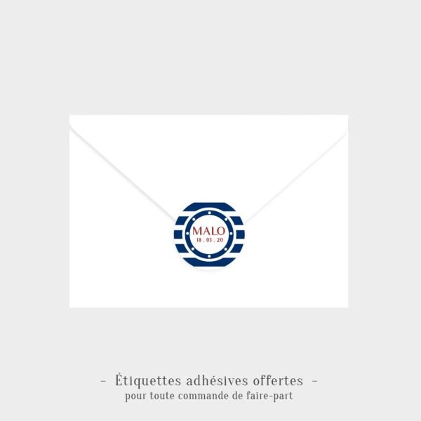 Etiquettes adhésives Petit matelot offertes