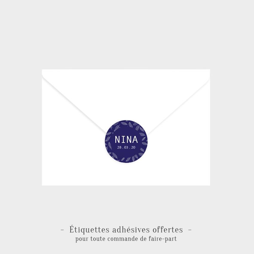 Etiquettes adhésives Rêve bleu offertes