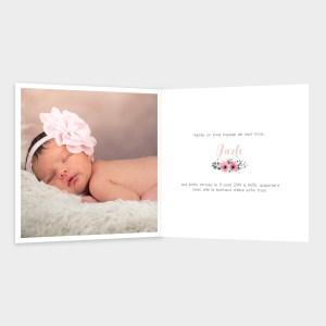 Faire-part de naissance Rose