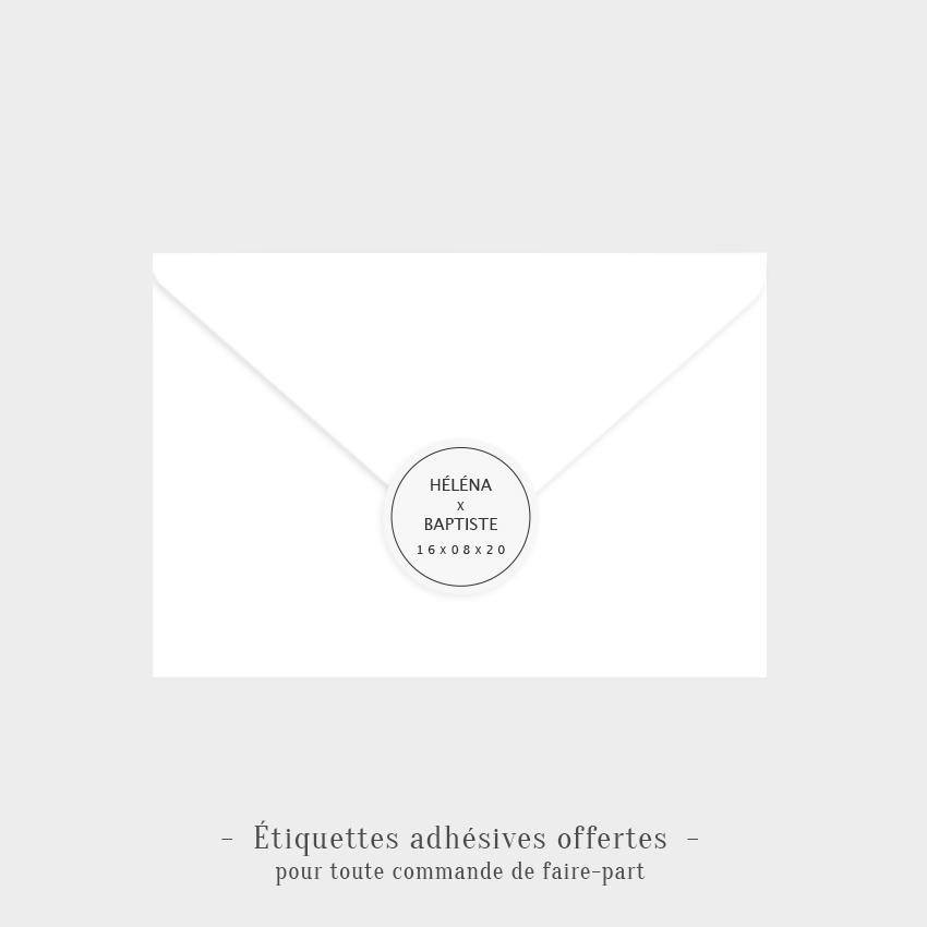 Etiquettes adhésives Amour offertes