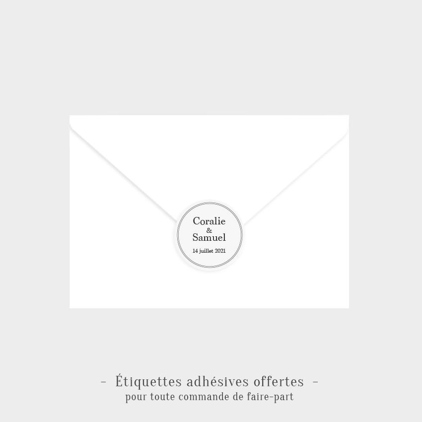 Etiquettes adhésives Éternel offertes