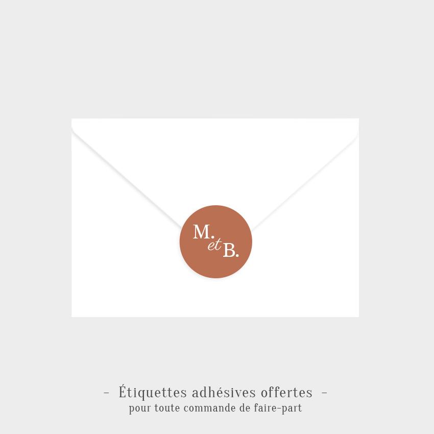 Etiquettes adhésives Évidence offertes sépia
