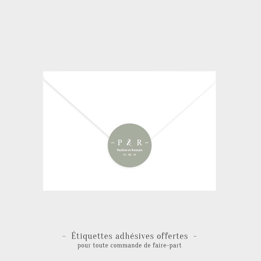 Etiquettes adhésives Idylle offertes olive
