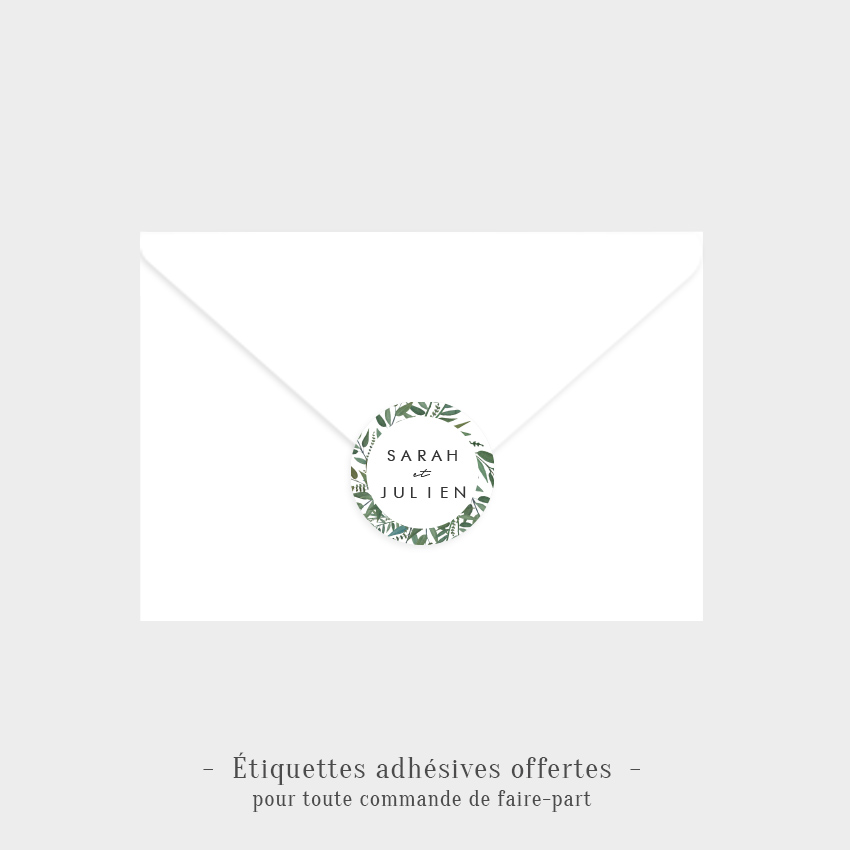 Etiquettes adhésives Instant d'amour offertes