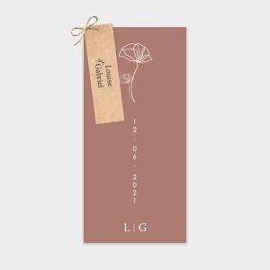 Faire-part de mariage Avenir rose cerisier