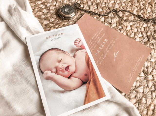 Faire-part de naissance Intemporel