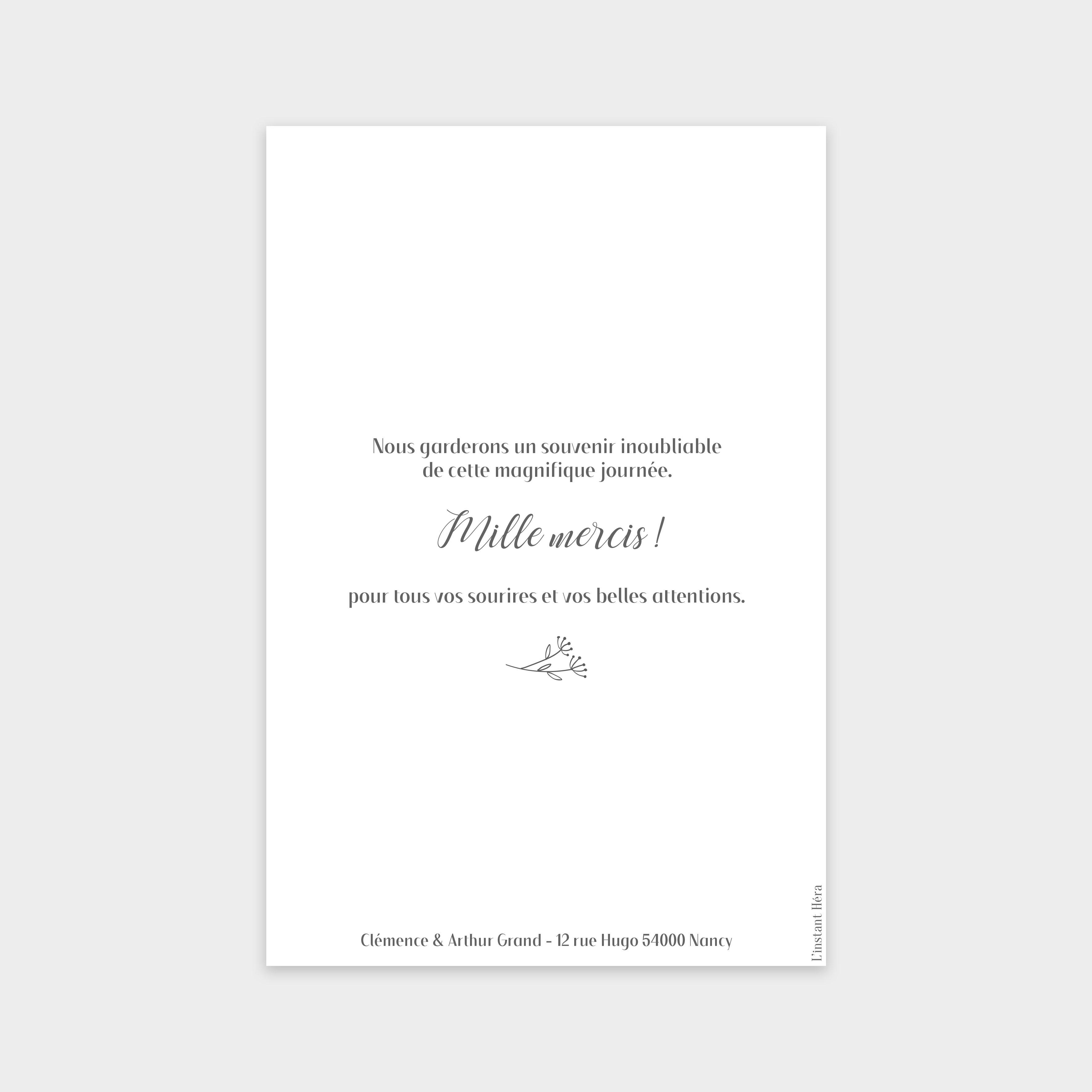 Carte de remerciement Promesse