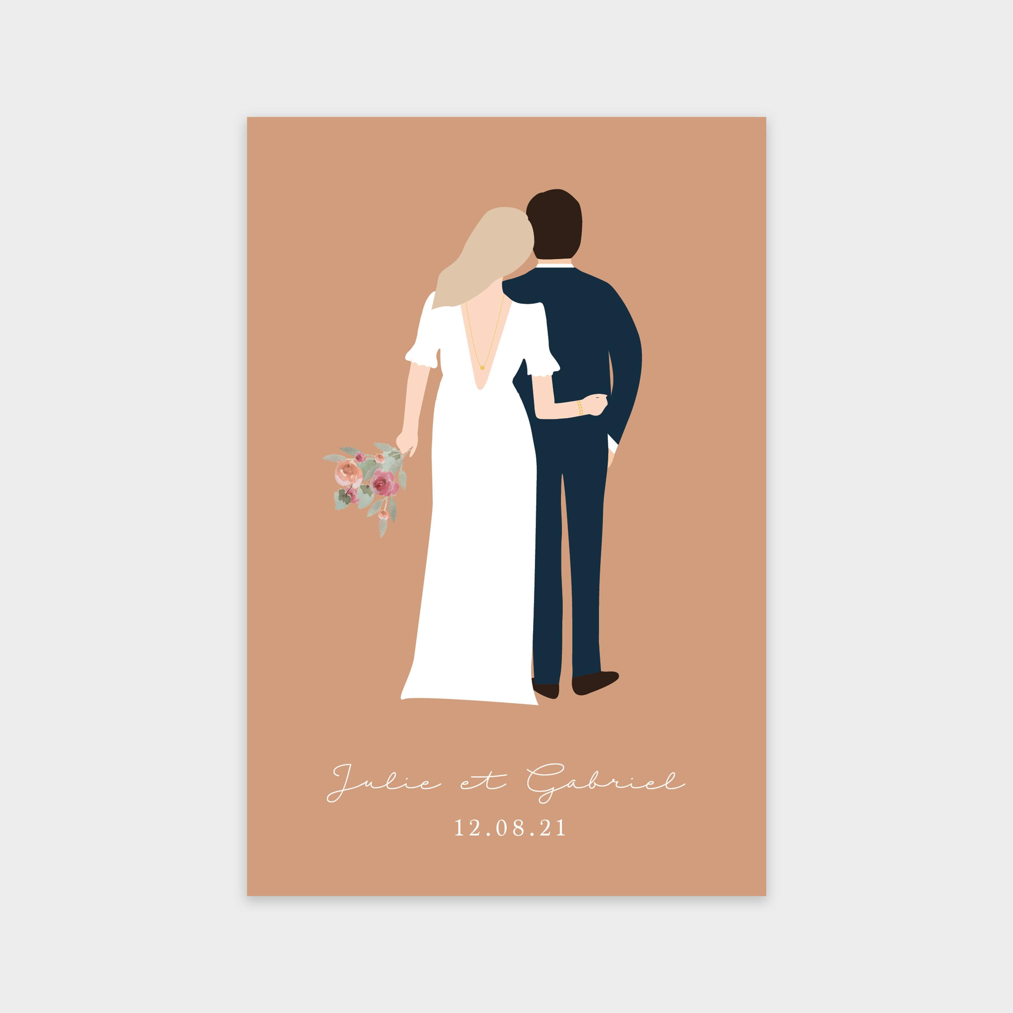 Faire-part de mariage Belle rencontre roussillon