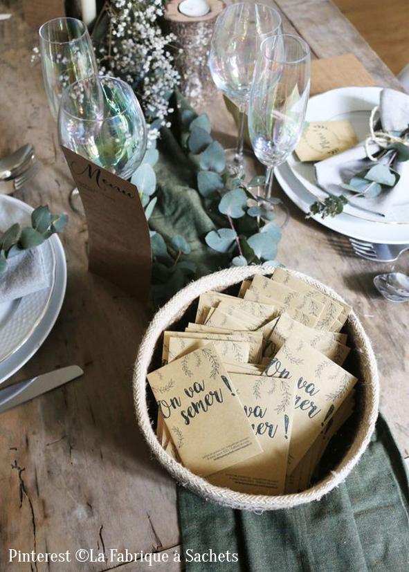 Sachets de graines mariage