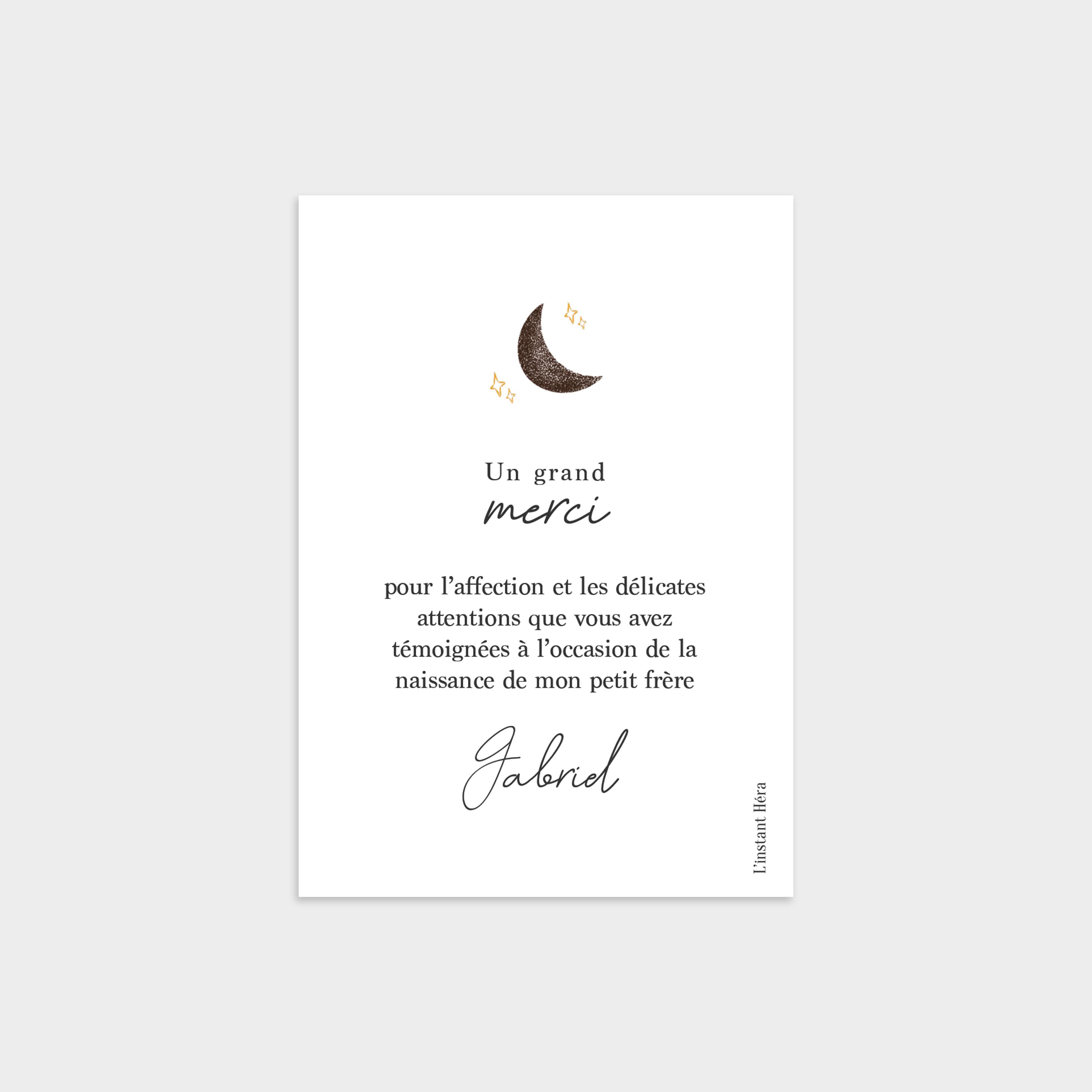 Remerciement Au clair de lune verso