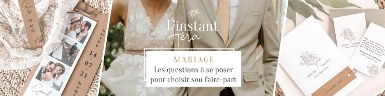 choix du faire-part de mariage