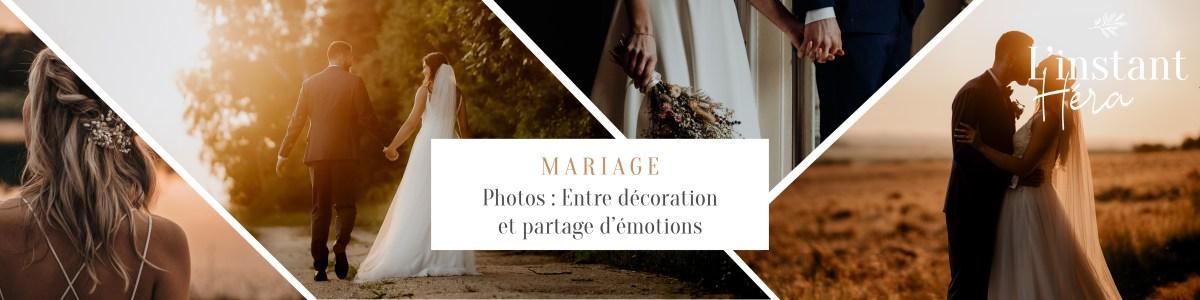 Photos de mariage : Entre décoration et partage d'émotions