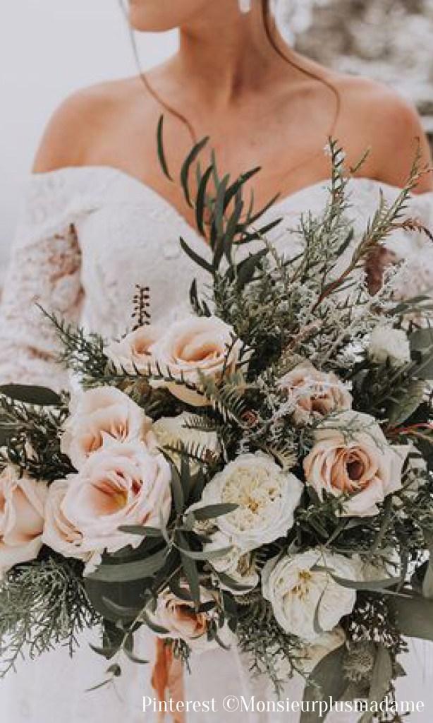 Fleurs mariage en hiver
