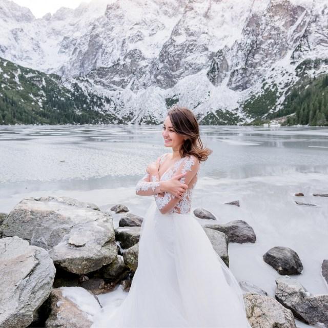 Mariée en hiver