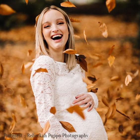 Photo grossesse automne